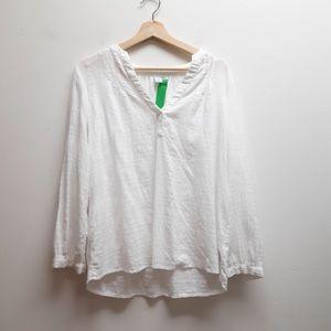 Old Navy White Cotton Shirt Medium